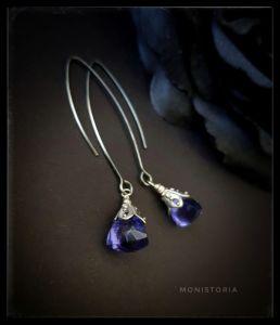 Сині сережки Сережки з танзанітом