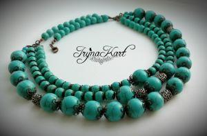 """Ожерелье из бирюзы Ожерелье """"Бирюза в ажуре"""""""
