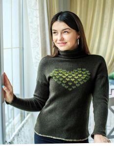 """Модная женская одежда Свитер """"Кашемировое сердце"""""""