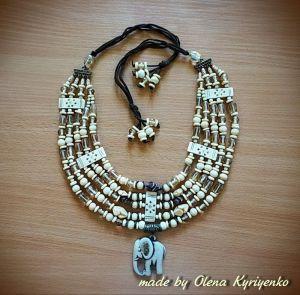 Ожерелье ручной работы Ожерелье из слоновой кости