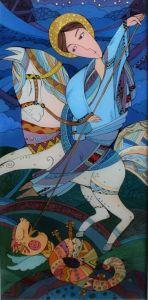 Картини маслом Святий Юрій Змієборець