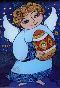 Картини маслом Ангел з писанкою