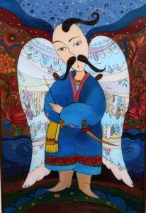 Картини маслом Козацький янгол (Ангел для Дніпра)