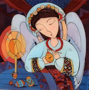 Картини маслом Ангел писанкарства