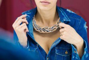 Ожерелье из текстиля Irisé 2