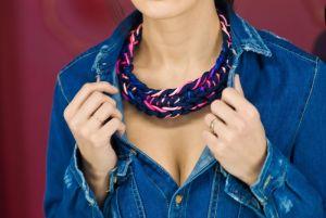 Ожерелье из текстиля Irisé 1