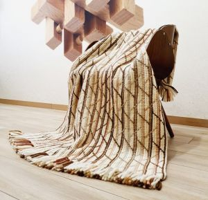 Декор для дому Плед з вовни меріноса з геометричним візерунком