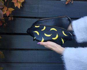 АртБутік Шкіряна Сумка Бананка Через Плече З Бананами