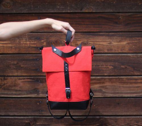 Текстильно кожаный рюкзак трансформер ВСТТ 001