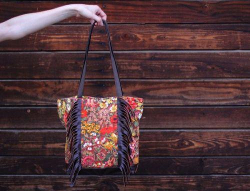 Текстильно - кожаная сумка BC 003
