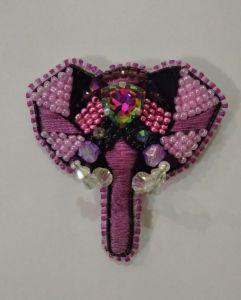 Брошки ручної роботи Брошка Слоник рожевий