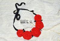 "Колье ""Red rose"""