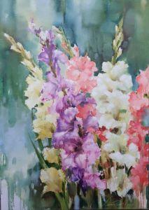 Картини маслом Танець квітів 2
