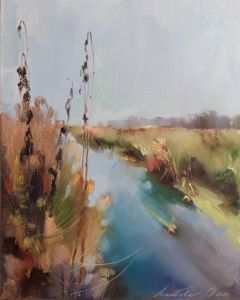 Нарисованные картины Река