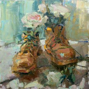 Картини маслом Чeрeвики з квітами