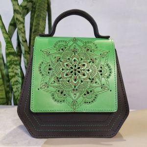 Повседневные женские сумки Кожаная сумка Цветущая