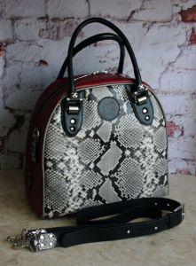 """Повседневные женские сумки Кожаная сумка """"Черно-белая страсть"""""""