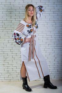 """Сукня вишиванка біла """"Людмила"""""""