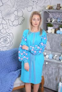 "Дизайнери Сукня вишиванка блакитна ""Панянка"""