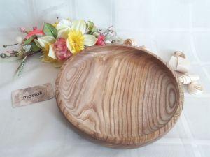 Изделия из дерева ручной работы Тарелка из цельного ясеня