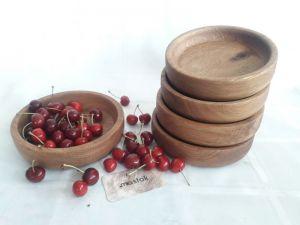 Изделия из дерева ручной работы Цельные дубовые миски для холодных и гарячих блюд