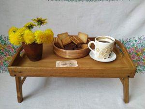 Вироби з дерева ручної роботи Столик для сніданків, таця