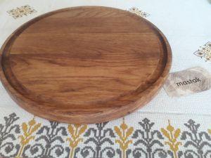 Изделия из дерева ручной работы Круглая доска для подачи и нарезки