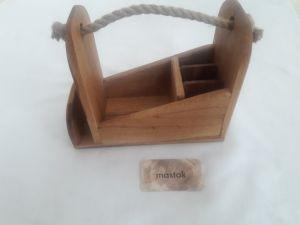 Вироби з дерева ручної роботи Органайзер, підставка для столових приборів