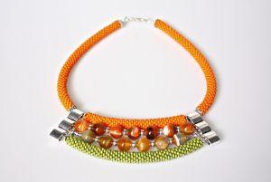 Ожерелье из бисера Сочный апельсин