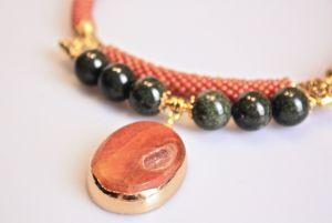 Ожерелье из бисера Грейпфрутовый сок