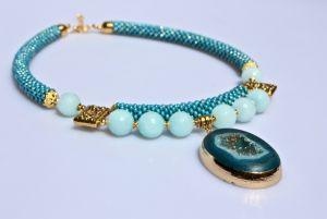 Ожерелье из бисера Морской прибой