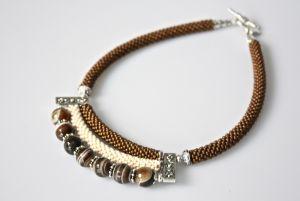 Ожерелье из бисера Перерыв на кофе