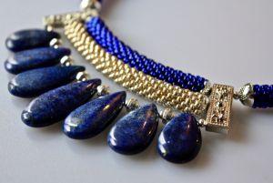 Ожерелье из бисера Водопад