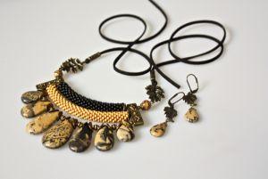 Ожерелье из замши Осенняя пора