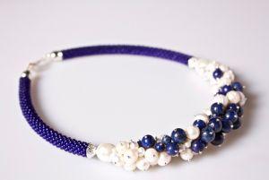 Ожерелье из бисера Горная синева