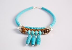 Ожерелье из бирюзы Капли росы