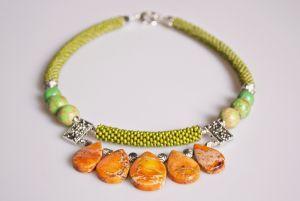 Ожерелье из бисера Солнечный зайчик