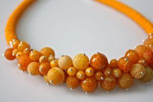 Колье из цитрина Оранжевое солнце