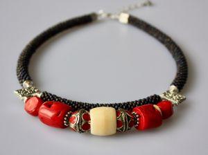 Ожерелье из бисера Этно душа