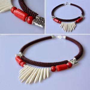 Ожерелье из говлита Вишневый джем