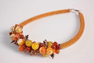 Ожерелье из бисера Солнце в лесу