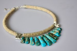 Ожерелье из бисера Лазурный берег