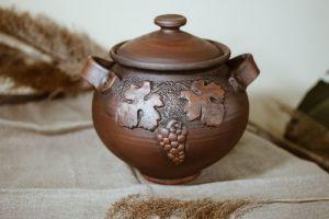 Глиняный горшочек Горшок с виноградом