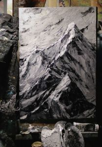 Нарисованные картины Горы