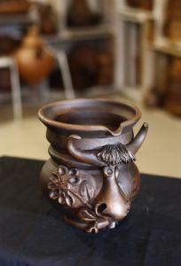Керамика ручной работы Кувшин-коровка