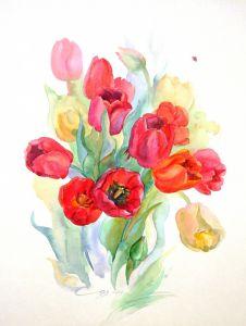 Картини графіка Весняний букет, тюльпани