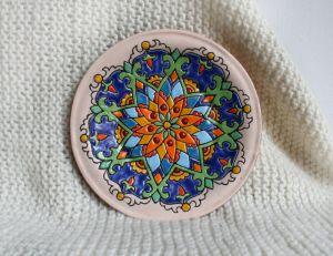 """ArtDecor Керамічна  тарілка """"Етно"""""""