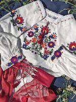 Детский комплект Радуга с ручной вышивкой
