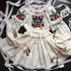 Embroidered apparel - Children Костюм для дівчинки ВЕСНЯНИЙ