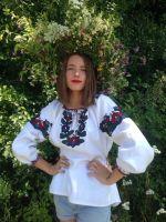 Ручная, авторская вышивка Борщевской цветок